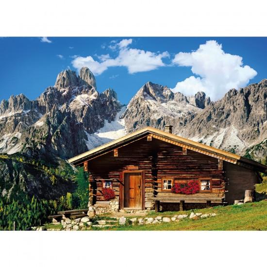Puzzle 1000 pi ces chalet dans les montagnes for Chalet a la montagne avec piscine