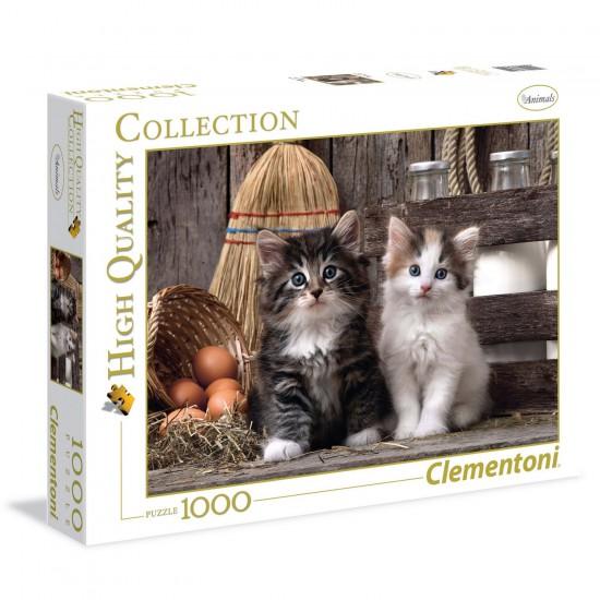 Puzzle 1000 pièces : chatons - Clementoni-39340