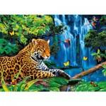 Puzzle 1000 pièces : Effet 3 D : Jaguar dans la jungle