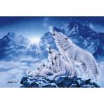 Puzzle 1000 pièces : Famille de loups
