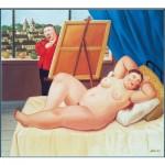 Puzzle 1000 pièces : Fernando Botero : Autoportrait avec modèle
