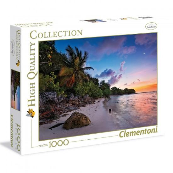 Puzzle 1000 pièces : Idyle Tropicale - Clementoni-39337