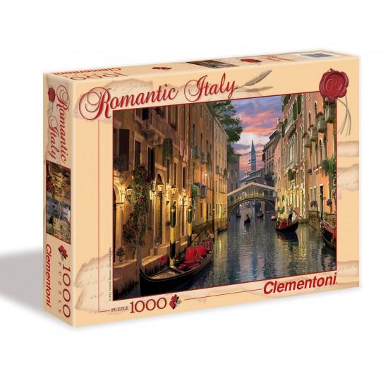 Puzzle 1000 pièces : Italie romantique - Clementoni-39218