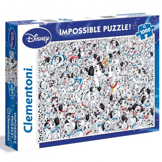 Puzzle 1000 pièces : Les 101 Dalmatiens - Clementoni-39358