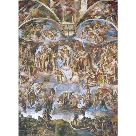 Puzzle 1000 pièces : Michel Ange : Le jour du jugement dernier - Clementoni-39250