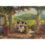 Puzzle 1000 pièces : Minnie et Mickey déjeunent