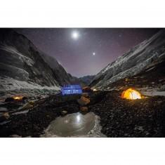 Puzzle 1000 pièces : National Geographic : Campement sur le versant népalais de l'Everest