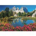 Puzzle 1000 pièces : Passo Pordoi, Dolomites, Italie