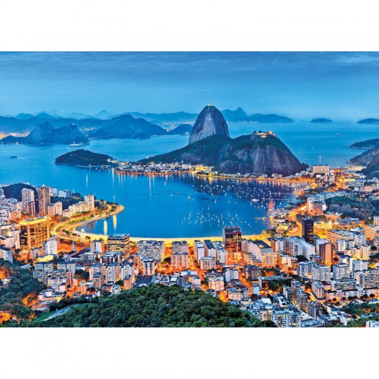 Puzzle 1000 pièces : Rio de Janeiro, Brésil - Clementoni-39258