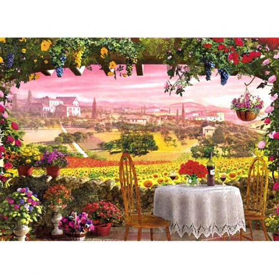 Puzzle 1000 pièces : Romantic Italy : Toscane - Clementoni-39260