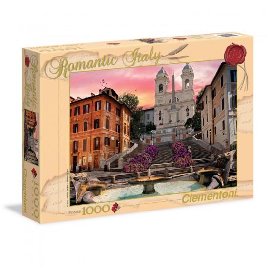 Puzzle 1000 pièces : Romantique Rome - Clementoni-39219