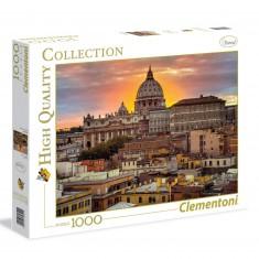 Puzzle 1000 pièces : Rome au coucher de soleil