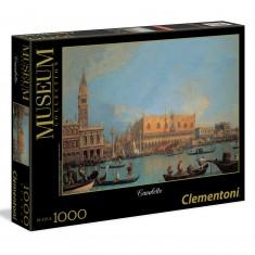 Puzzle 1000 pièces Canaletto : Vue du palais des Doges