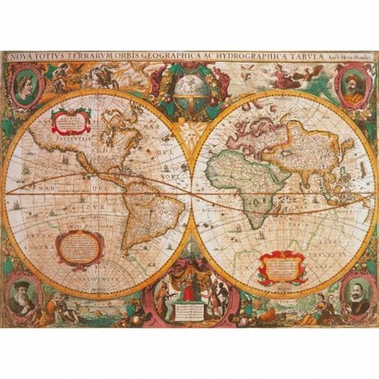 Puzzle 1000 pièces - Carte antique - Clementoni-31229