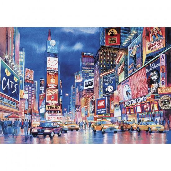 Puzzle 1000 pièces fluorescent : Les lumières de New-York - Clementoni-39249