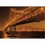 Puzzle 1000 pièces fluorescent - San Francisco la nuit