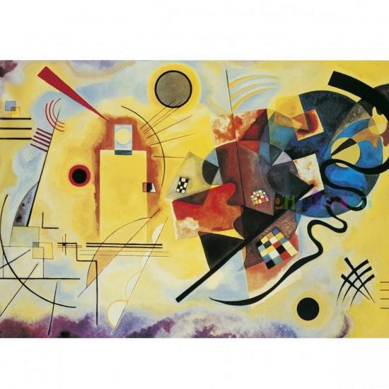 Puzzle 1000 pièces - Kandinsky : Jaune - Rouge - Bleu - Clementoni-39195