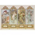 Puzzle 1000 pièces - Mucha : Les 4 saisons