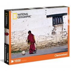 Puzzle 1000 pièces National Geographic : Jeune Moine Bouddhiste