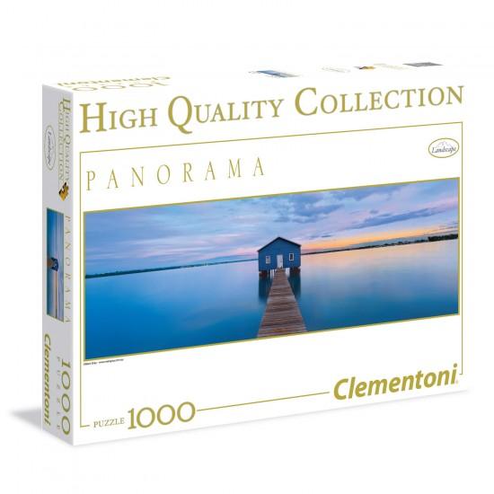Puzzle 1000 pièces Panorama : Quiétude bleue - Clementoni-39330