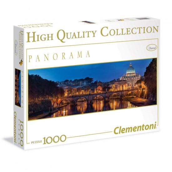PUzzle 1000 pièces Panorama : Rome - Clementoni-39343