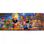 Puzzle 1000 pièces panoramique - Mickey et Minnie