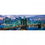 Puzzle 1000 pièces panoramique - New York : Pont de Brooklyn