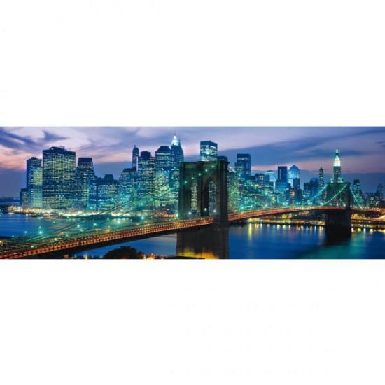 Puzzle 1000 pièces panoramique - New York : Pont de Brooklyn - Clementoni-39209