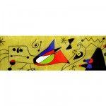 Puzzle 1000 pièces panoramique : Mirò : Femme et oiseau dans la nuit