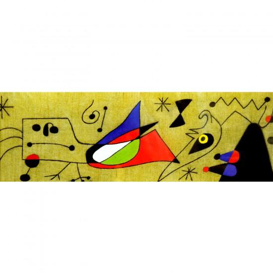 Puzzle 1000 pièces panoramique : Mirò : Femme et oiseau dans la nuit - Clementoni-39264