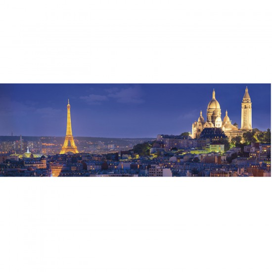 Puzzle 1000 pièces panoramique : Monuments parisiens, Paris - Clementoni-39241