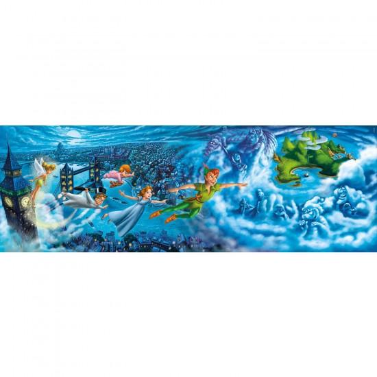 Puzzle 1000 pièces panoramique : Peter Pan - Clementoni-39286
