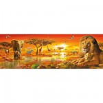 Puzzle 1000 pièces panoramique : Savane africaine