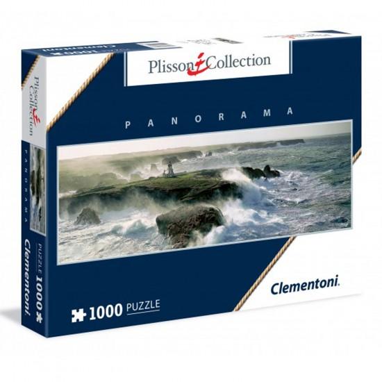 Puzzle 1000 pièces panoramique collection Plisson : Pointe des Poulains - Clementoni-39353