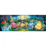 Puzzle 1000 pièces panoramique - Princesses Disney
