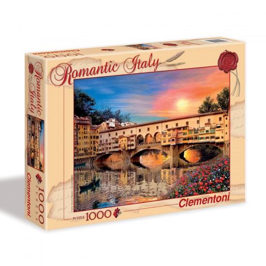 Puzzle 1000 pièces Romantic Italy : Florence - Clementoni-39220