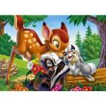 Puzzle 104 pièces - Bambi et ses amis