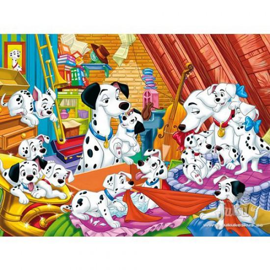Puzzle 104 pièces - Les 101 Dalmatiens : Quelle famille ! - Clementoni-27478