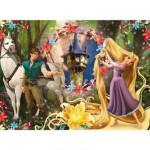 Puzzle 104 pièces - Raiponce : Raiponce et son prince charmant