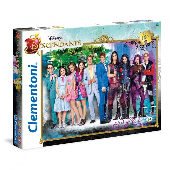 Puzzle 104 pièces : Descendants 2 - Clementoni-27936