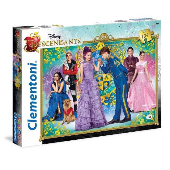 Puzzle 104 pièces : Descendants - Clementoni-27935