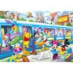 Puzzle 104 pièces : Disney family