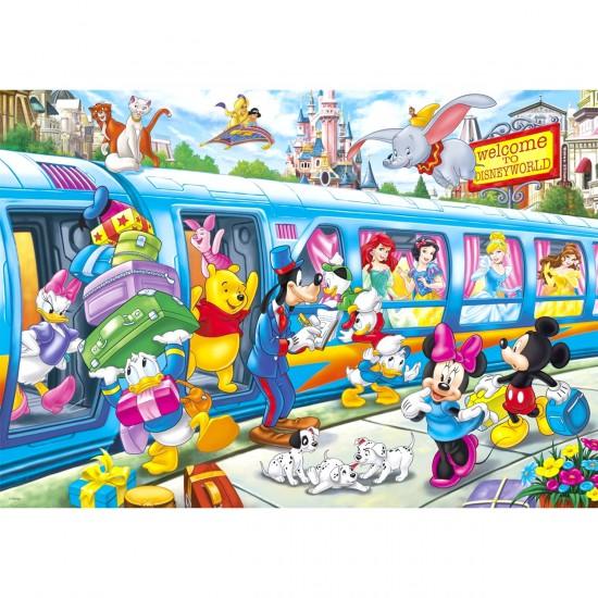 Puzzle 104 pièces : Disney family - Clementoni-27884