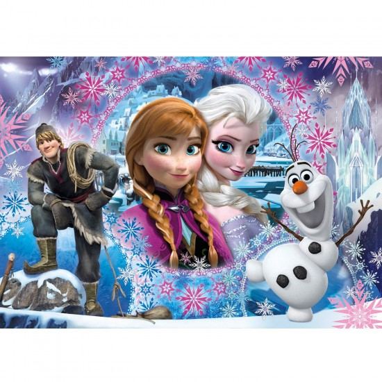 Puzzle 104 pièces : La Reine des Neiges Frozen : Bienvenue à Arendelle - Clementoni-27913