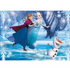 Puzzle 104 pièces : La Reine des Neiges Frozen : Jewels Puzzle