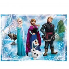 Puzzle 104 pièces : La Reine des Neiges (Frozen)
