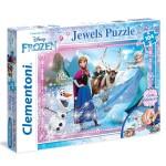 Puzzle 104 pièces : La Reine des Neiges Jewels