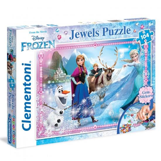 Puzzle 104 pièces : La Reine des Neiges Jewels - Clementoni-20133