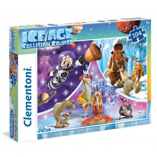 Puzzle 104 pièces : l'Âge de Glace 5 - Clementoni-27964