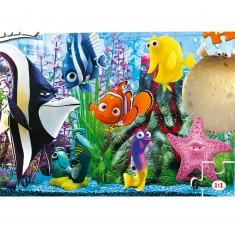 Puzzle 104 pièces : Le monde de Nemo et ses amis